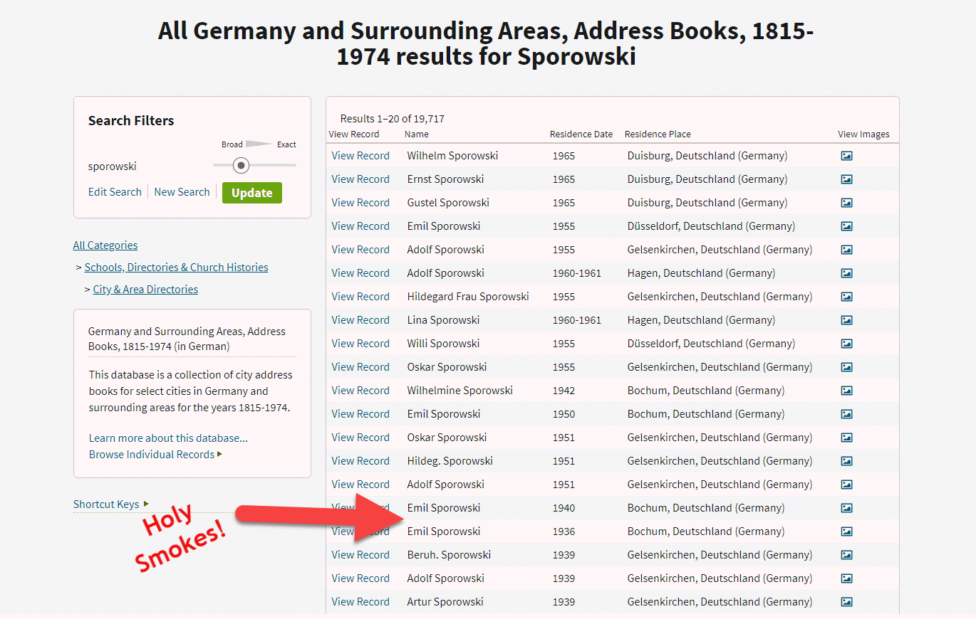 German Address Books at Ancestry.com bust Brick wall