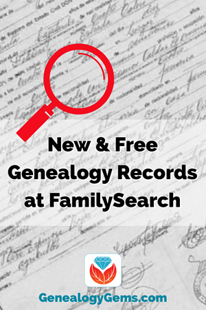 Family Search new records