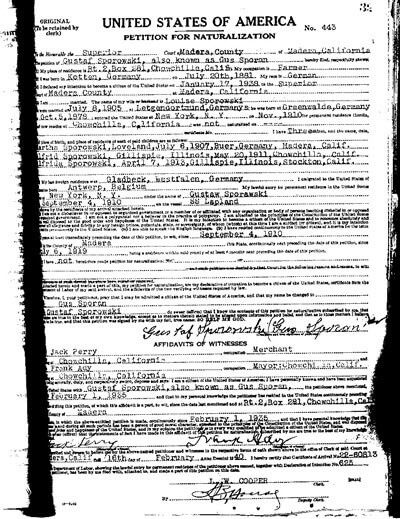 Naturalization Record German Address Books at Ancestry