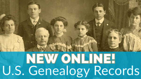 US genealogy records new online
