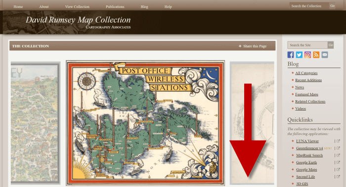 Old maps for genealogy at David Rumsey website
