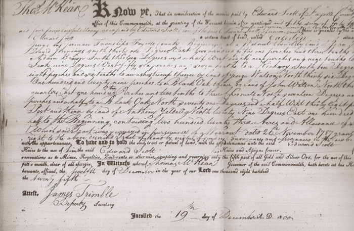 Land grants and land patents