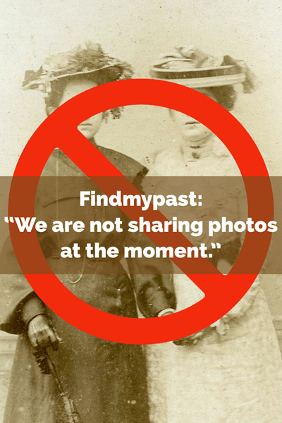 findmypast not photo sharing