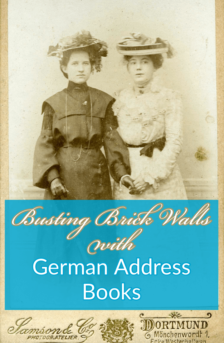 bust brick walls with German Address Books at Ancestry