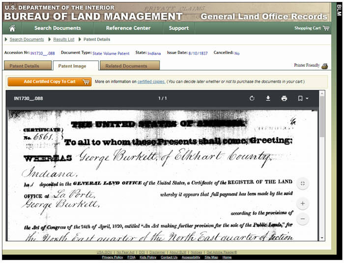 How to find land patents