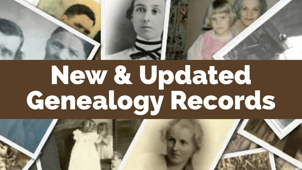 Recent New and Updated Genealogy Records Online