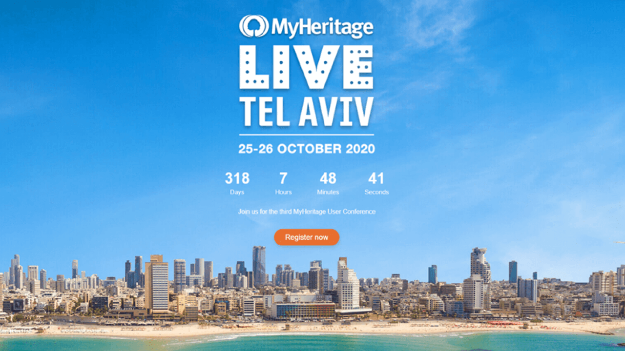 Join me at MyHeritage LIVE Tel Aviv 2020