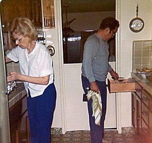 Pauline and Elzie Moore Thanksgiving 1974