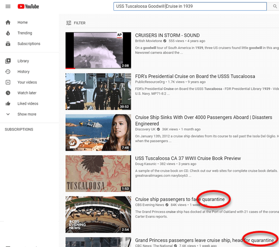 Identify unwanted videos and words in the YouTube search results