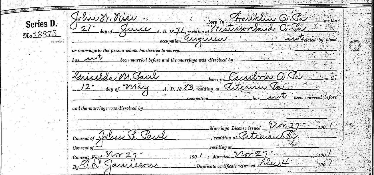 genealogy record Tenney