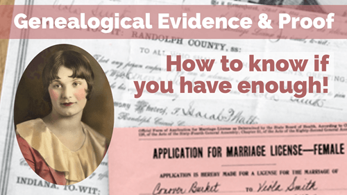 Genealogical Evidence and Proof