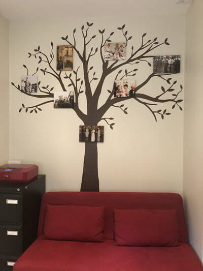 Family Tree Wall Art Display