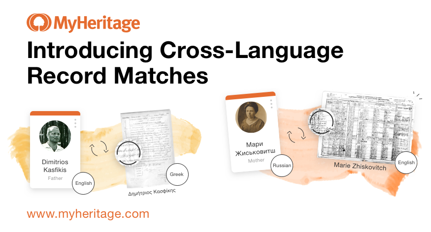 Cross-Language Record Matching Announced by MyHeritage