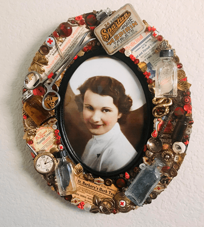 Embellished family history photo frame