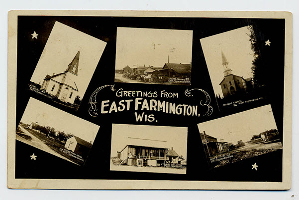 East Farmington Wisconsin History postcard