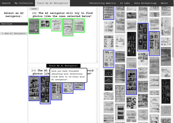 selecting unwanted images from historic newspapers
