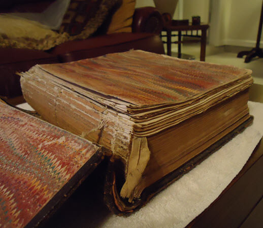 family Bible in need of restoration