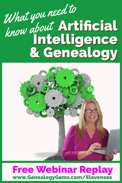 Free Webinar AI Machine learning and Genealogy