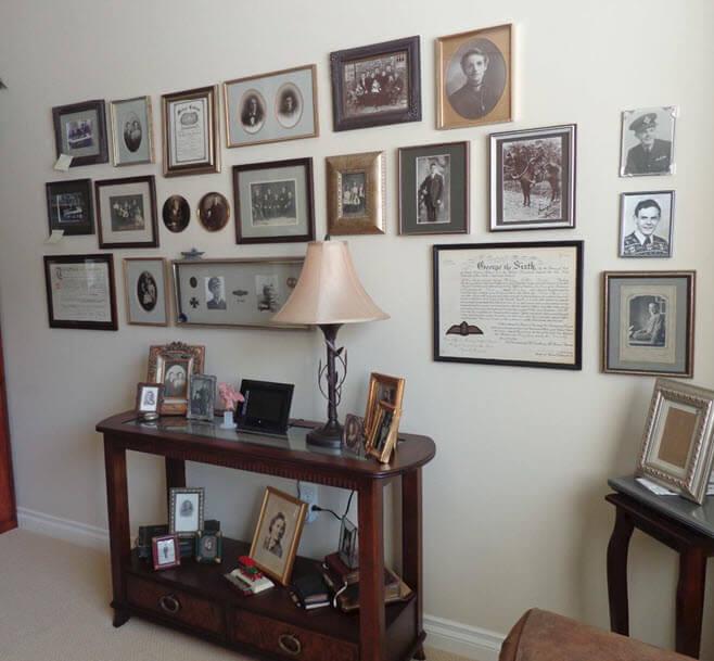 Family history wall display idea