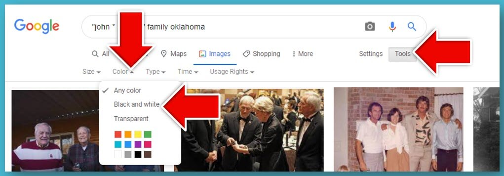 How to filter Google Image results