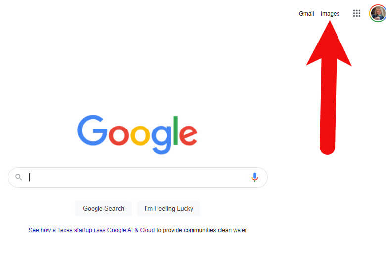 How to get to Google Images from Google.com