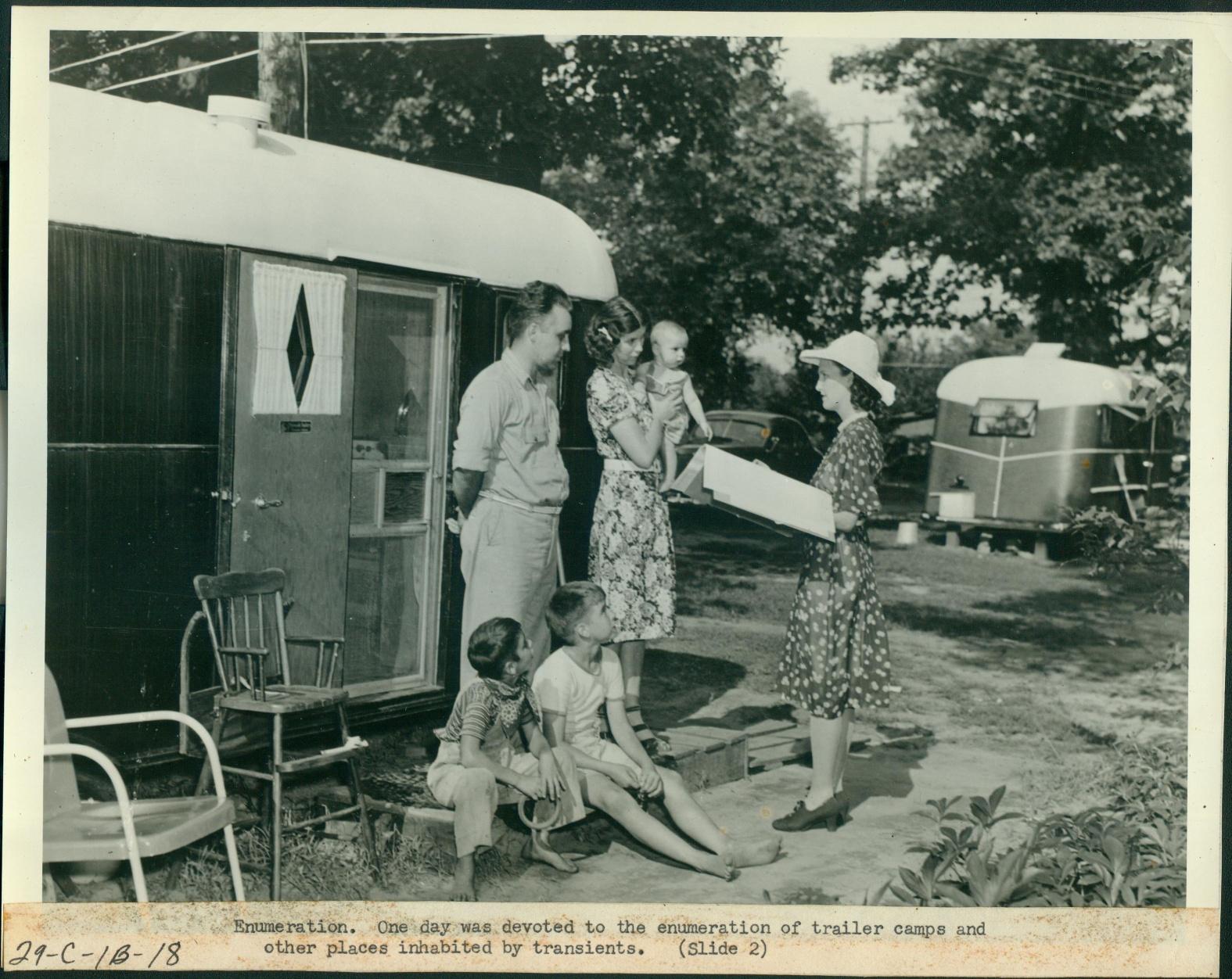 1950 census enumerator at Motor Camp