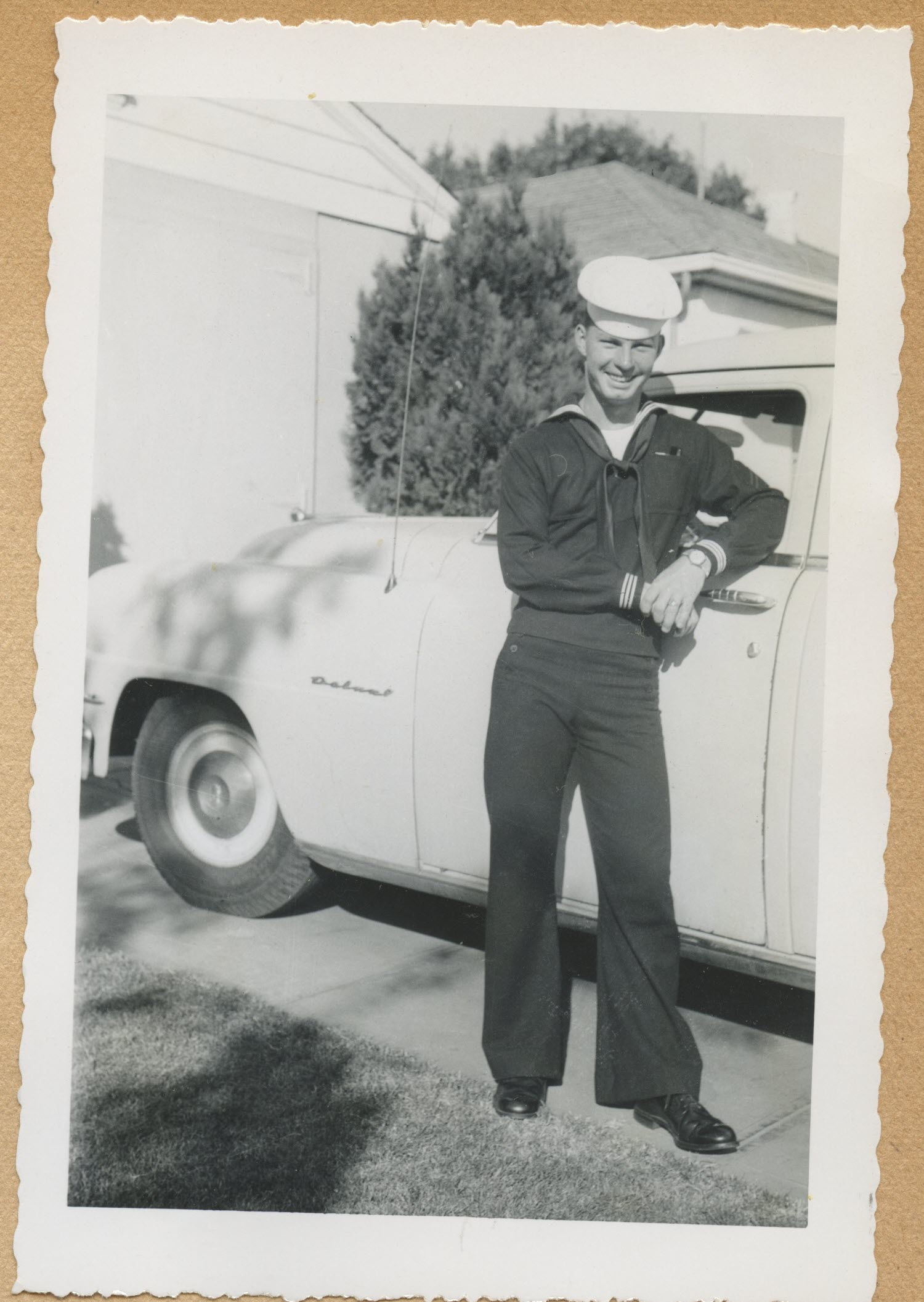 Sailors and soldiers serving overseas were counted in the 1950 census