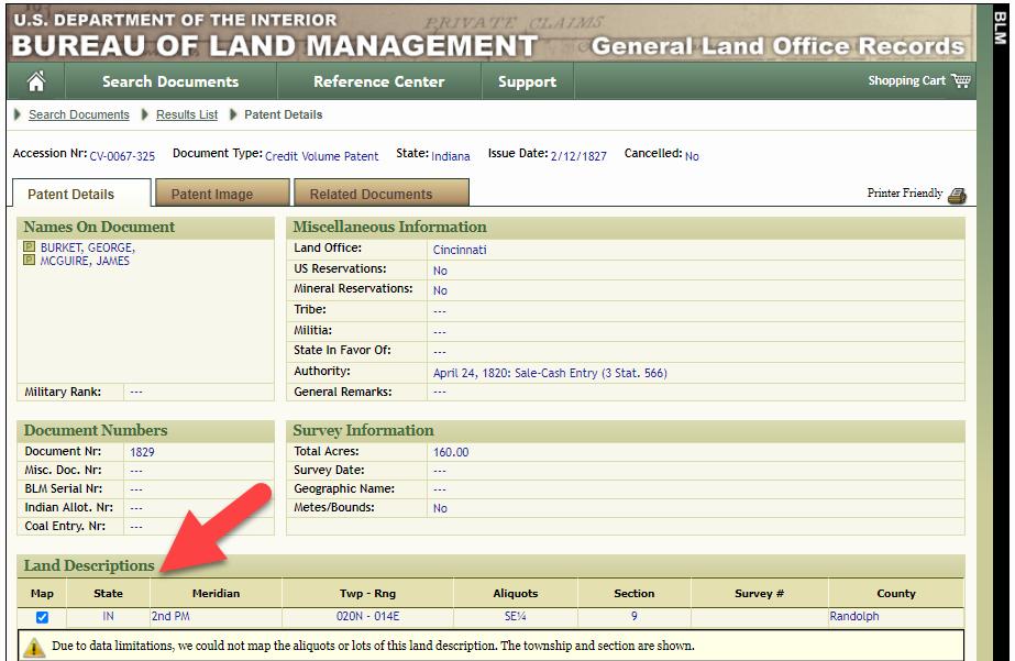 legal land description - plot in Google Earth