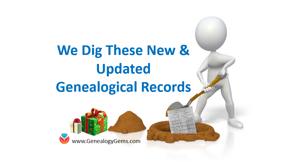 Open the Gift of New and Updated Genealogical Collections From Around the World