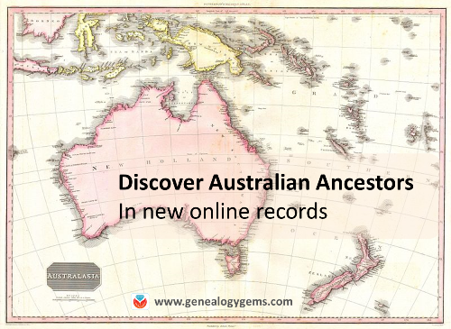 Find Australian Ancestors and More: New and Updated Genealogy Records Online