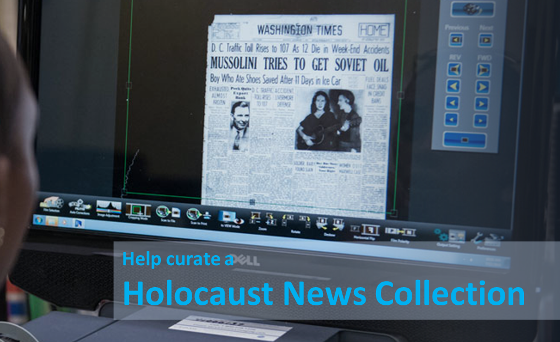 Help Curate Holocaust Newspaper Articles: Volunteers Needed