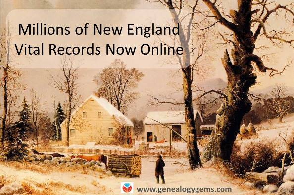 New England Vital Records and More: New Genealogy Records Online