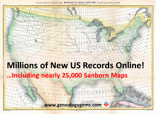 Sanborn Maps and Other U.S. Resources: New Genealogy Records Online