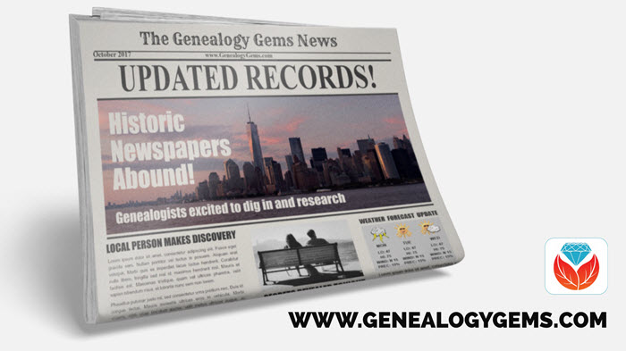 US & UK Newspapers, Vital Records & More! New Genealogy Records Online This Week