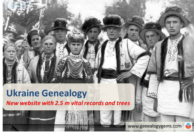NEW Ukraine Genealogy Website Tops List of New Genealogy Records Online
