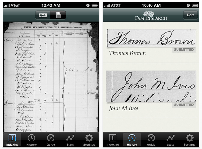 FamilySearch Launches Mobile Indexing App (2/12/12)