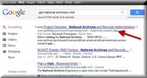 File Search Trick, and Prepping for an Archive Visit 8/8/11