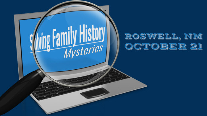 Solving Family History Mysteries in Roswell, NM: Genealogy Seminar with Lisa Louise Cooke