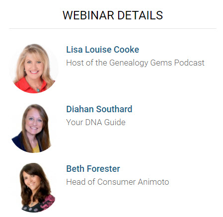 "Free Webinar ""Reveal Your Unique Story through DNA and Family History"""